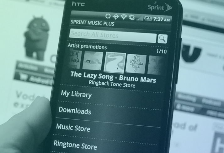 Sprint - music plus mobile application